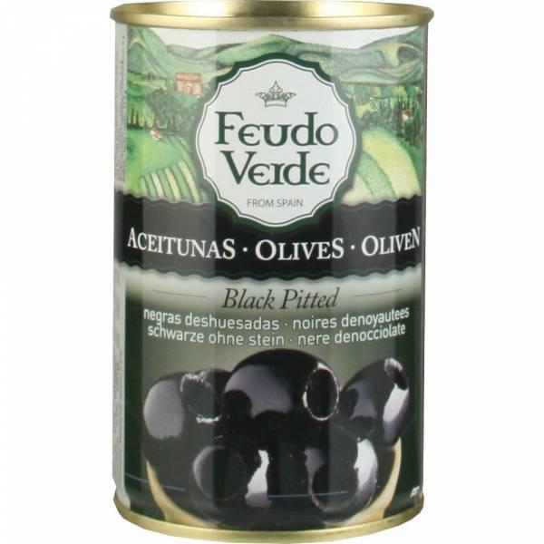3547 Feudo Verde spanische schwarze Oliven entsteint