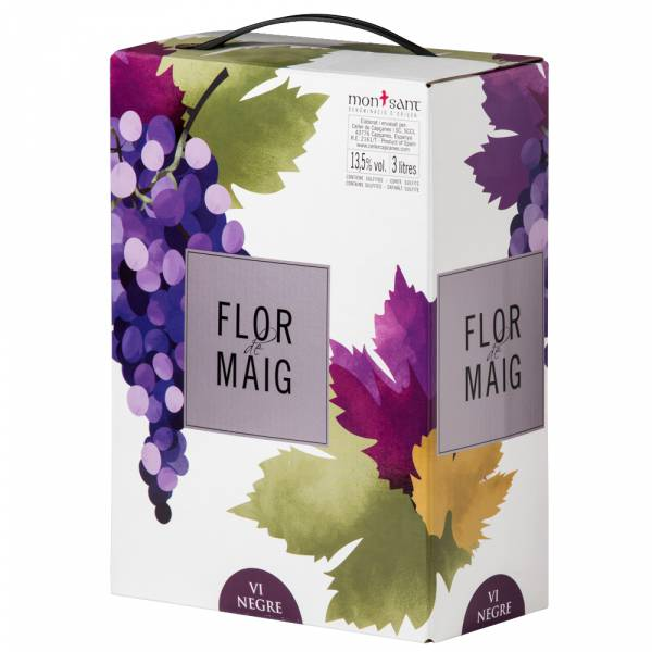 2965B Rotwein Flor de Maig Tinto Bag-in-Box