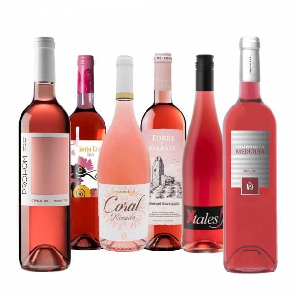 6622 Weinpaket 6 Flaschen spanischer Rosewein