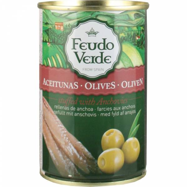 3553 gruene spanische Feudo Verde Oliven Sardellen