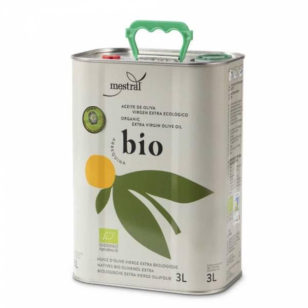 430011 Mestral Bio Olivenöl Arbequina 3 Liter Kanister